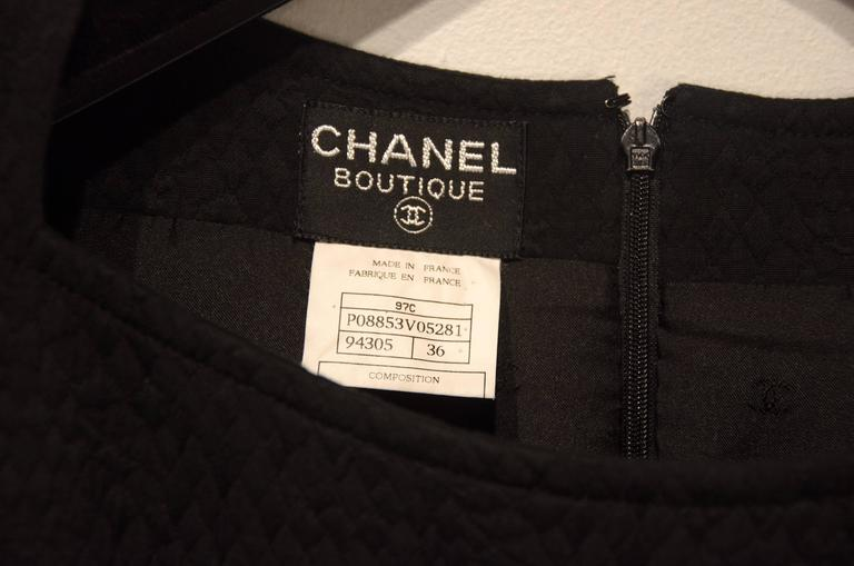 French Chanel Quilted Gown For Sale