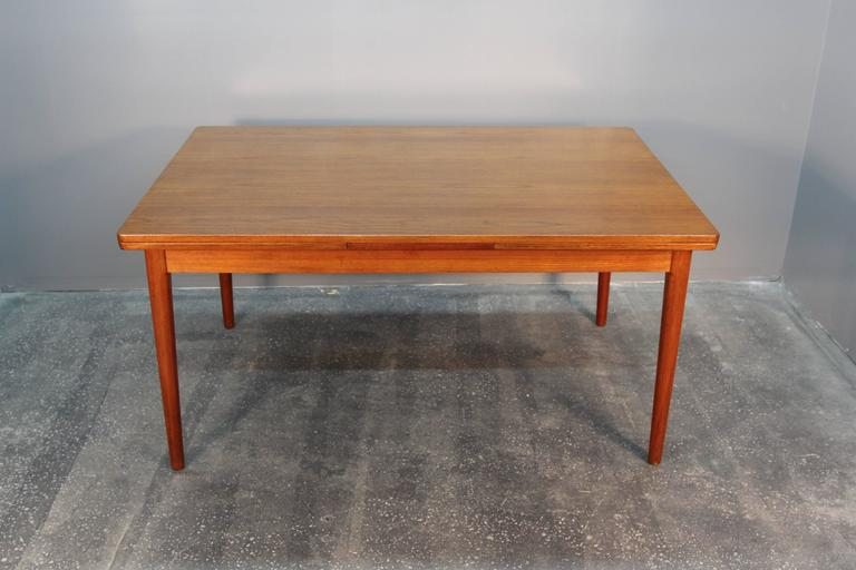 Niels Otto Moller Teak Extension Dining Table Model 12 For Sale At