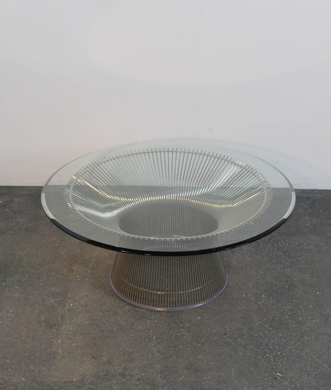 Warren Platner Chrome Coffee Table For Sale At 1stdibs