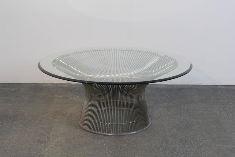 Warren platner chrome coffee table for sale at 1stdibs for Warren platner coffee table