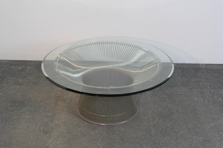 Warren Platner Chrome Coffee Table In Excellent Condition For Sale In Norwalk, CT