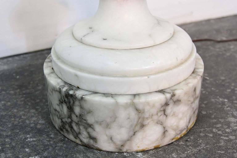 Antique Carved Alabaster Floor Lamp Torchiere With Greek Key Motif For Sale At 1stdibs
