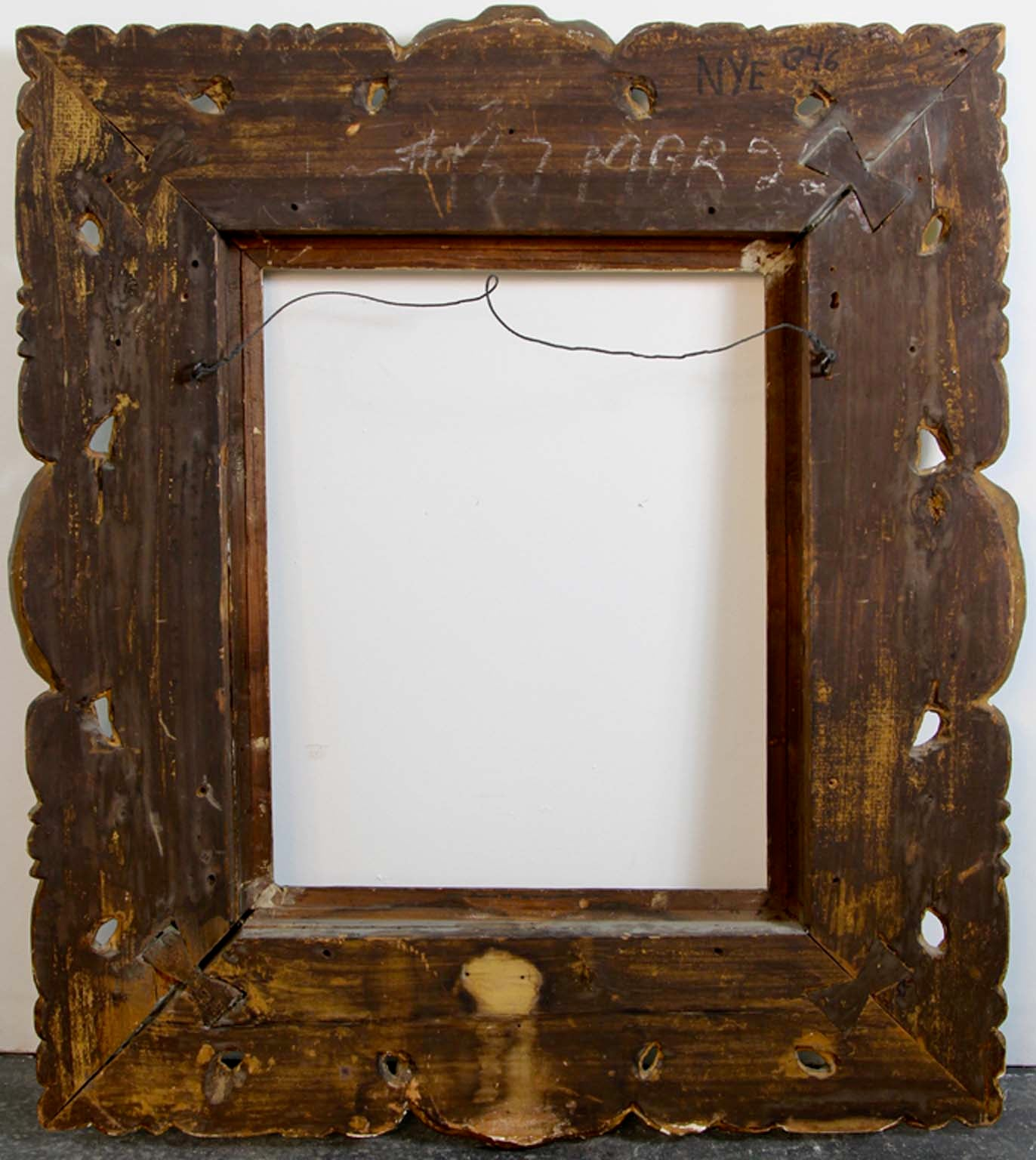 Rare 17th Century Gold Leaf Museum Frame For Sale at 1stdibs