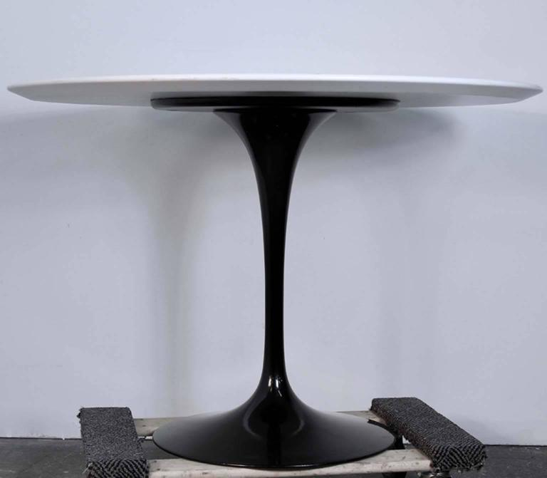 Knoll Studio 1956 Signed Saarinen Heavy Black Lacquer