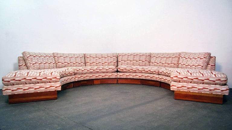 Circular Curved Mid-Century Modern Section Sofa by Erwin Lambeth for John Stuart 2