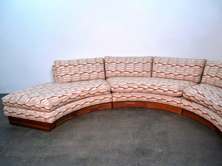 Circular Curved Mid-Century Modern Section Sofa by Erwin Lambeth for John Stuart 3