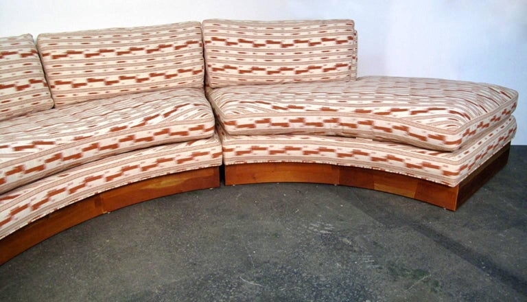 Circular Curved Mid-Century Modern Section Sofa by Erwin Lambeth for John Stuart 5