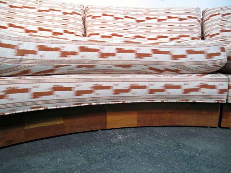 Circular Curved Mid Century Modern Section Sofa By Erwin