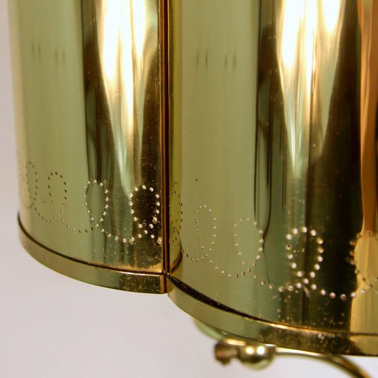 Hollywood Regency Brass Table Lamp in the Manner of Paavo Tynell For Sale 2