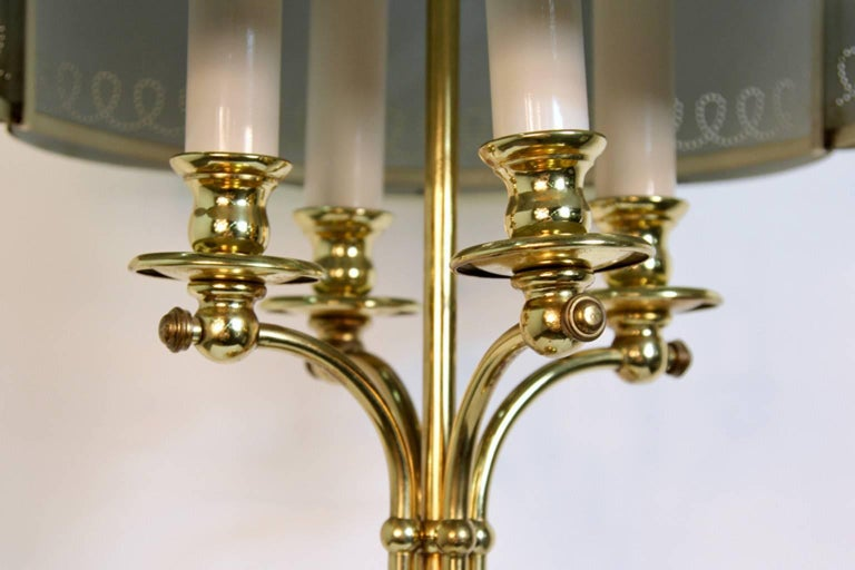 Hollywood Regency Brass Table Lamp in the Manner of Paavo Tynell For Sale 3