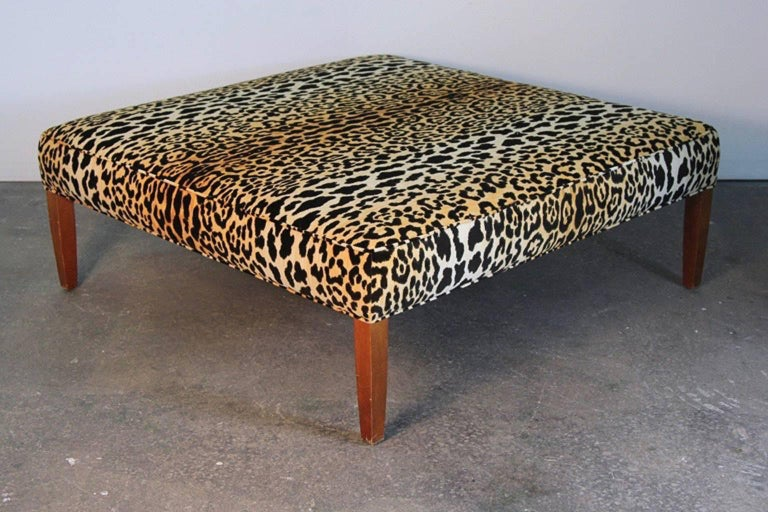 Leopard Print Ottoman Or Coffee Table For Sale At 1stdibs