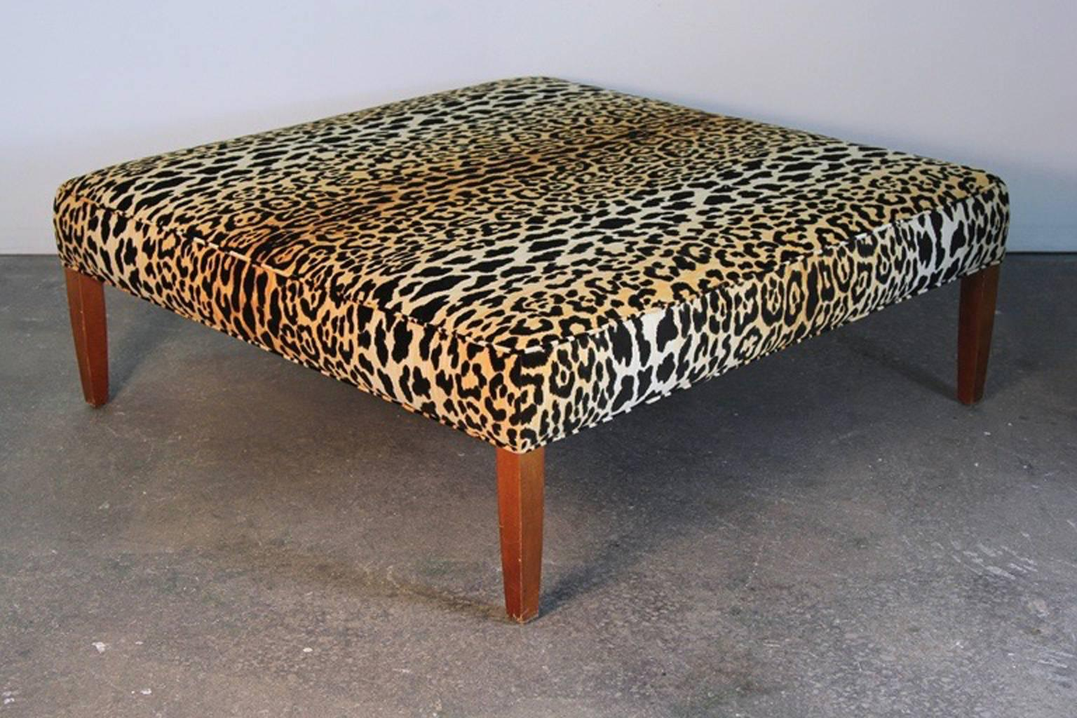 Leopard Print Ottoman Or Coffee Table For Sale 2