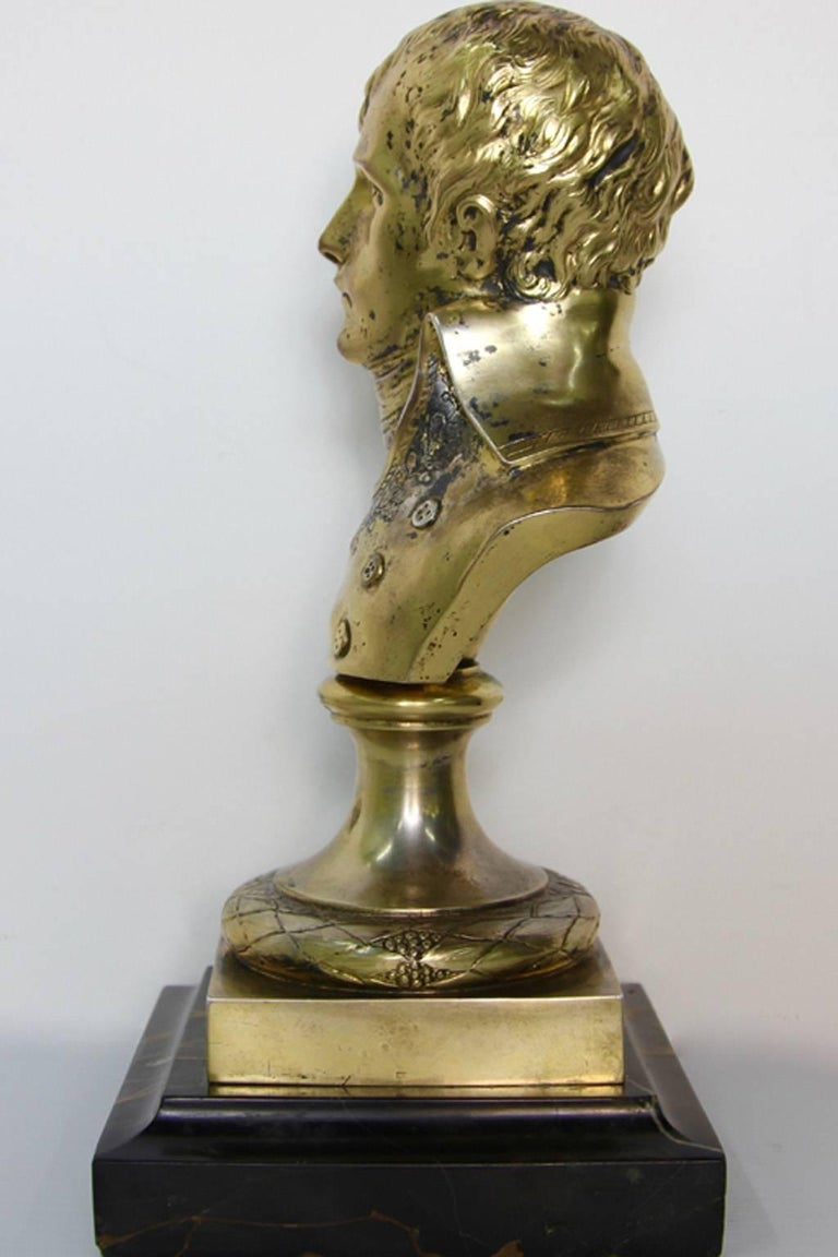 Rare Antique Silver Sculpture Young Napoleon In Good Condition For Sale In Norwalk, CT