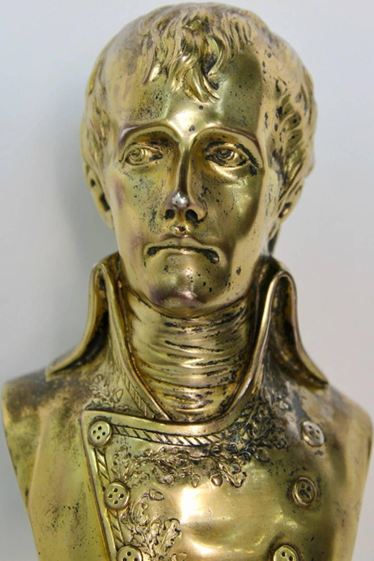 Rare Antique Silver Sculpture Young Napoleon For Sale 5