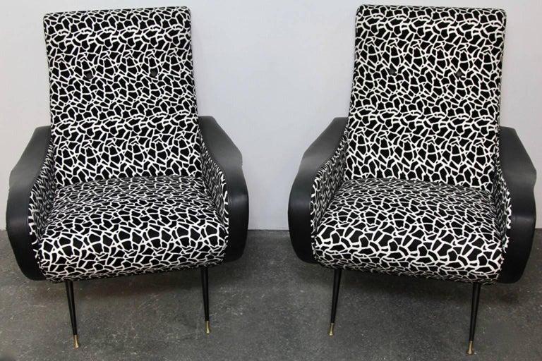 Italian Style Club Chairs Mid-Century Modern 8
