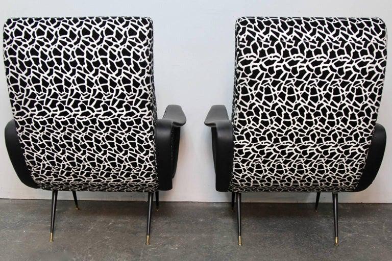 Italian Style Club Chairs Mid-Century Modern 9