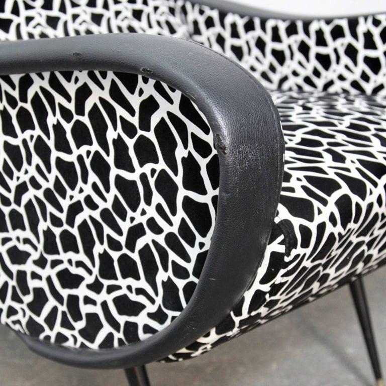 Italian Style Club Chairs Mid-Century Modern 10