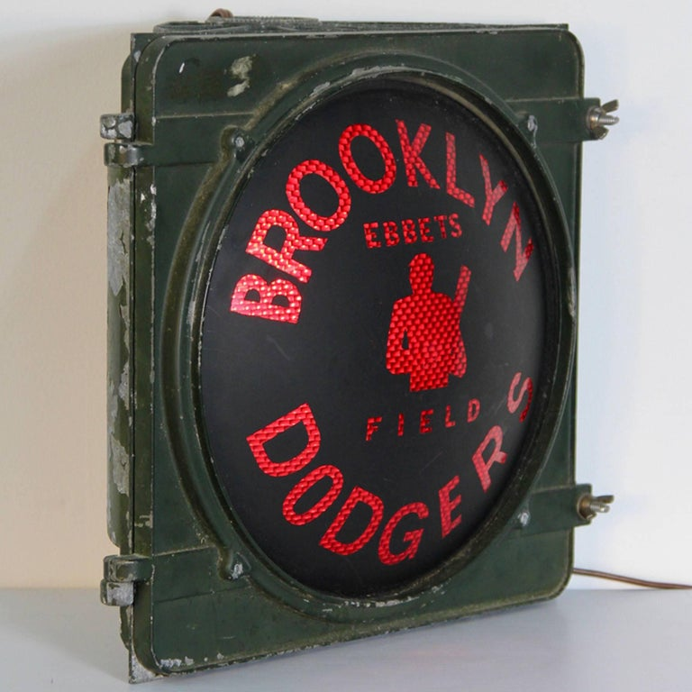 Vintage Stadium Lights: Vintage Brooklyn Dodgers Ebbets Field Light For Sale At