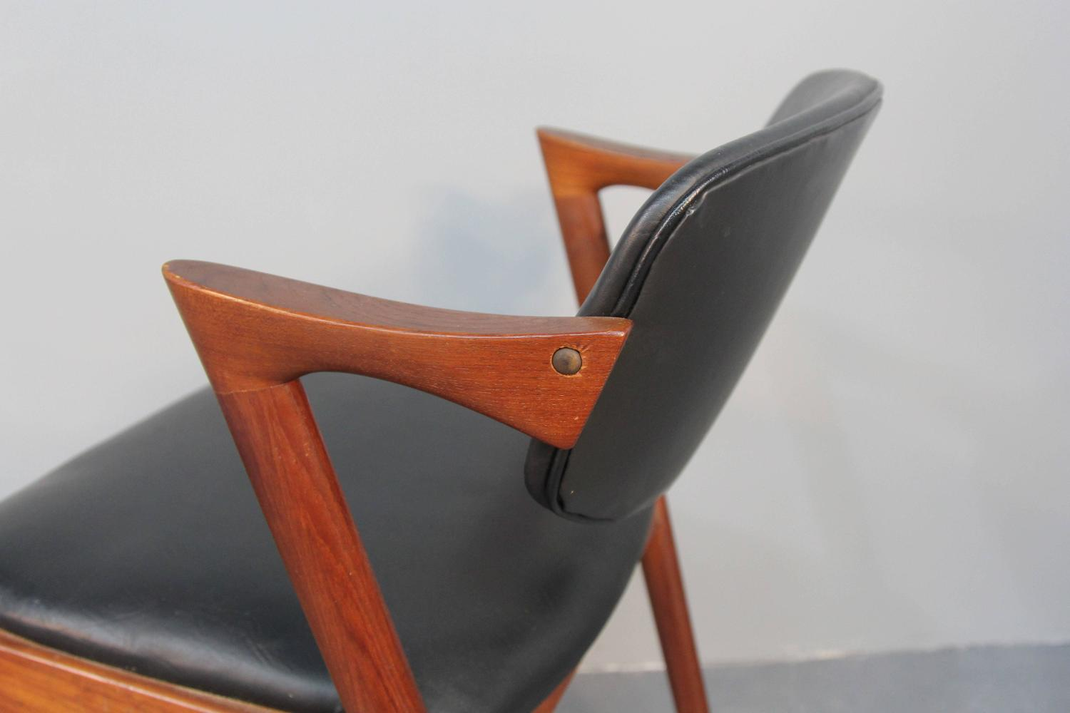 Kai Kristiansen Model 42 Teak Z Chairs Set Of Six At 1stdibs