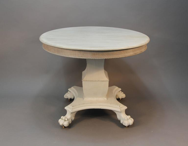 Round French Empire Style Dining Table 2