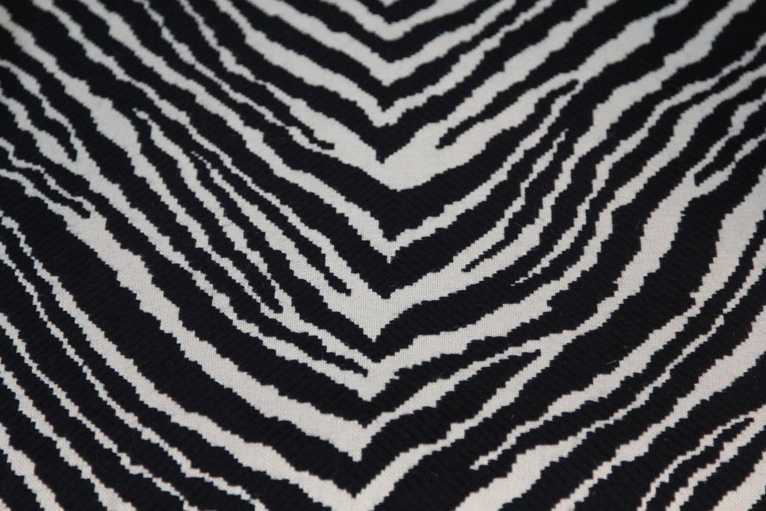 Alvar Aalto Tank Chair With Zebra Pattern Upholstery At