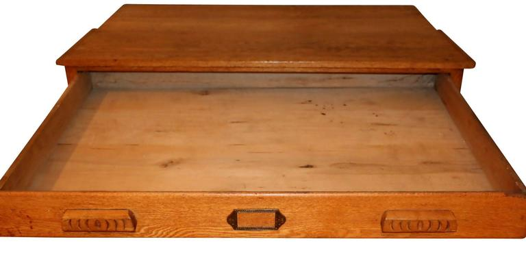 American Oak Map or Architect's Chest 4