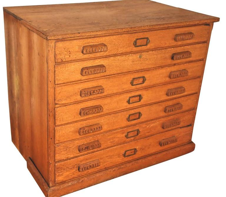 American Oak Map or Architect's Chest 2