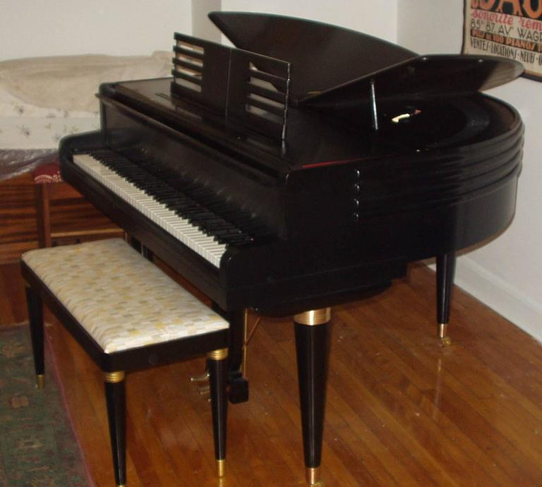 "Art Deco Wurlitzer ""Butterfly"" Baby Grand Piano"