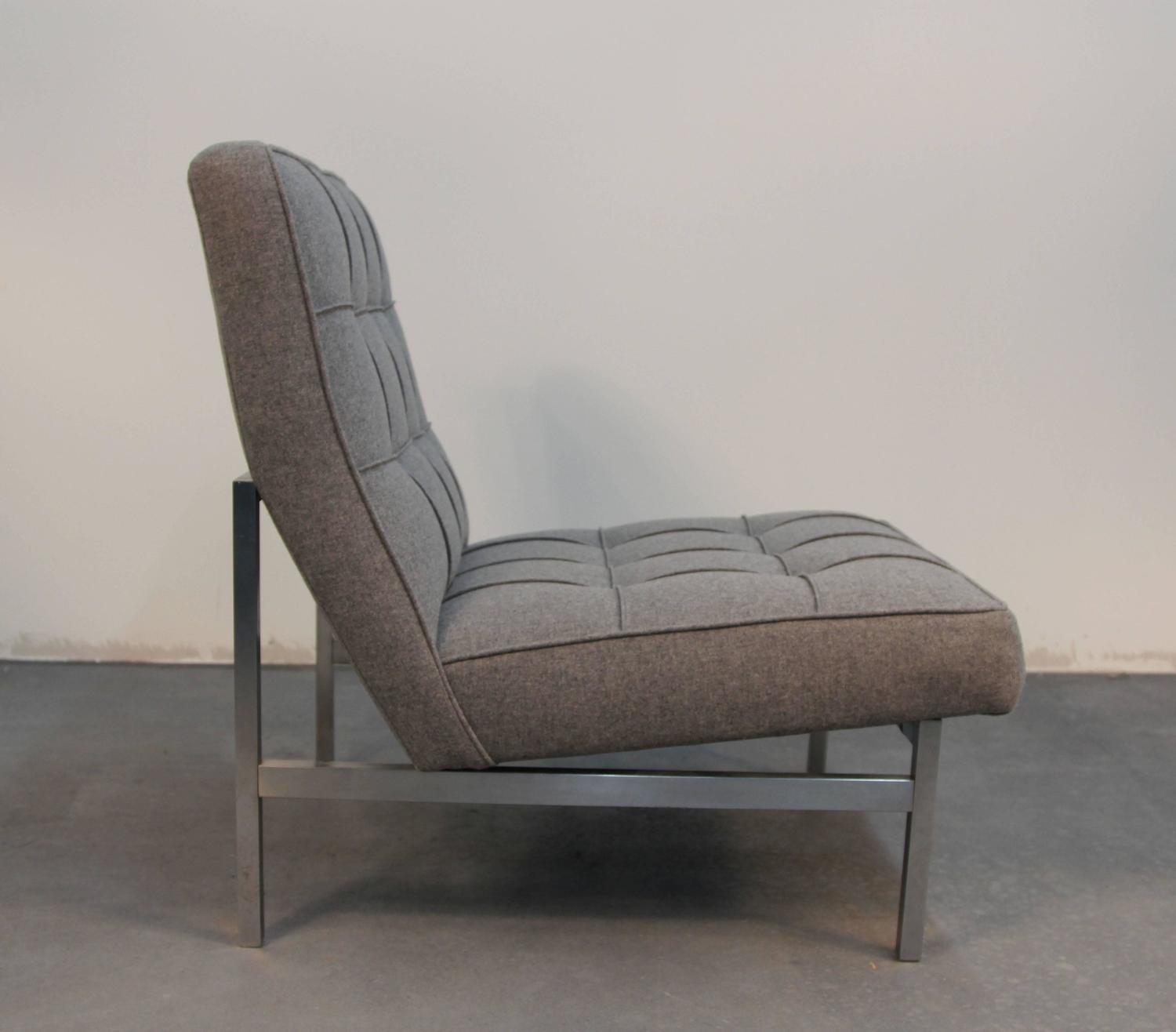 Pair Of Florence Knoll Parallel Bar Lounge Chairs At 1stdibs