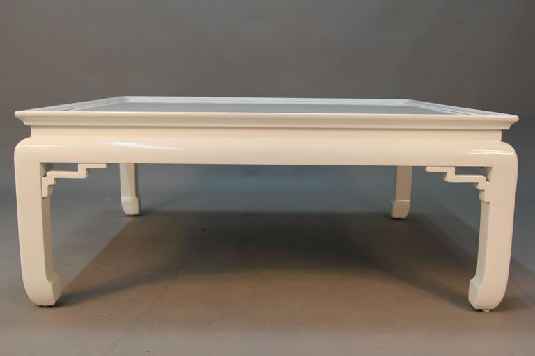 White lacquered asian coffee table for sale at 1stdibs for Chinese furniture norwalk ct
