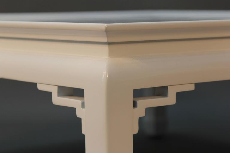 White Lacquered Asian Coffee Table 4