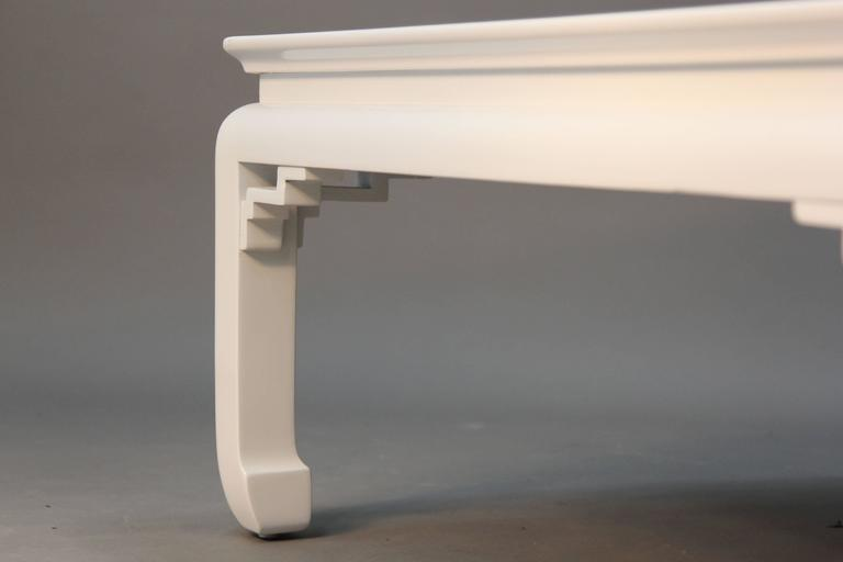 White Lacquered Asian Coffee Table 5