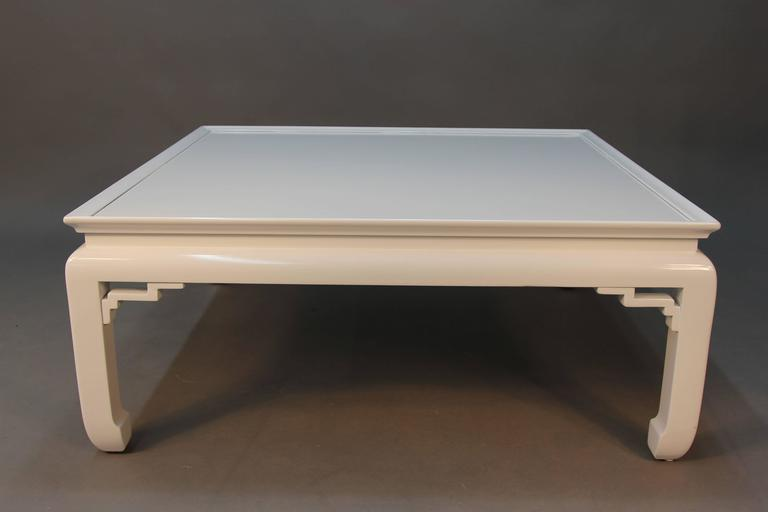 White Lacquered Asian Coffee Table 3