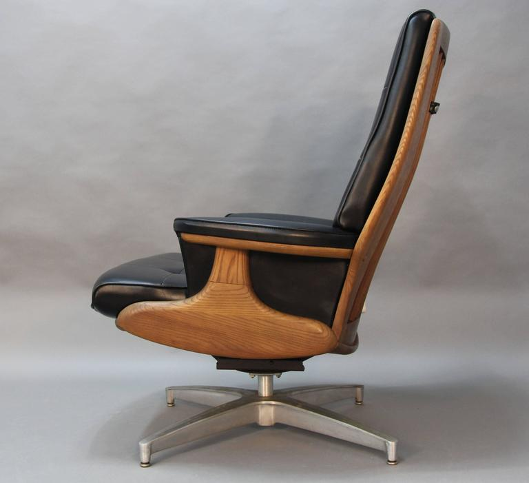 Heywood Wakefield Lounge Chair And Ottoman At 1stdibs