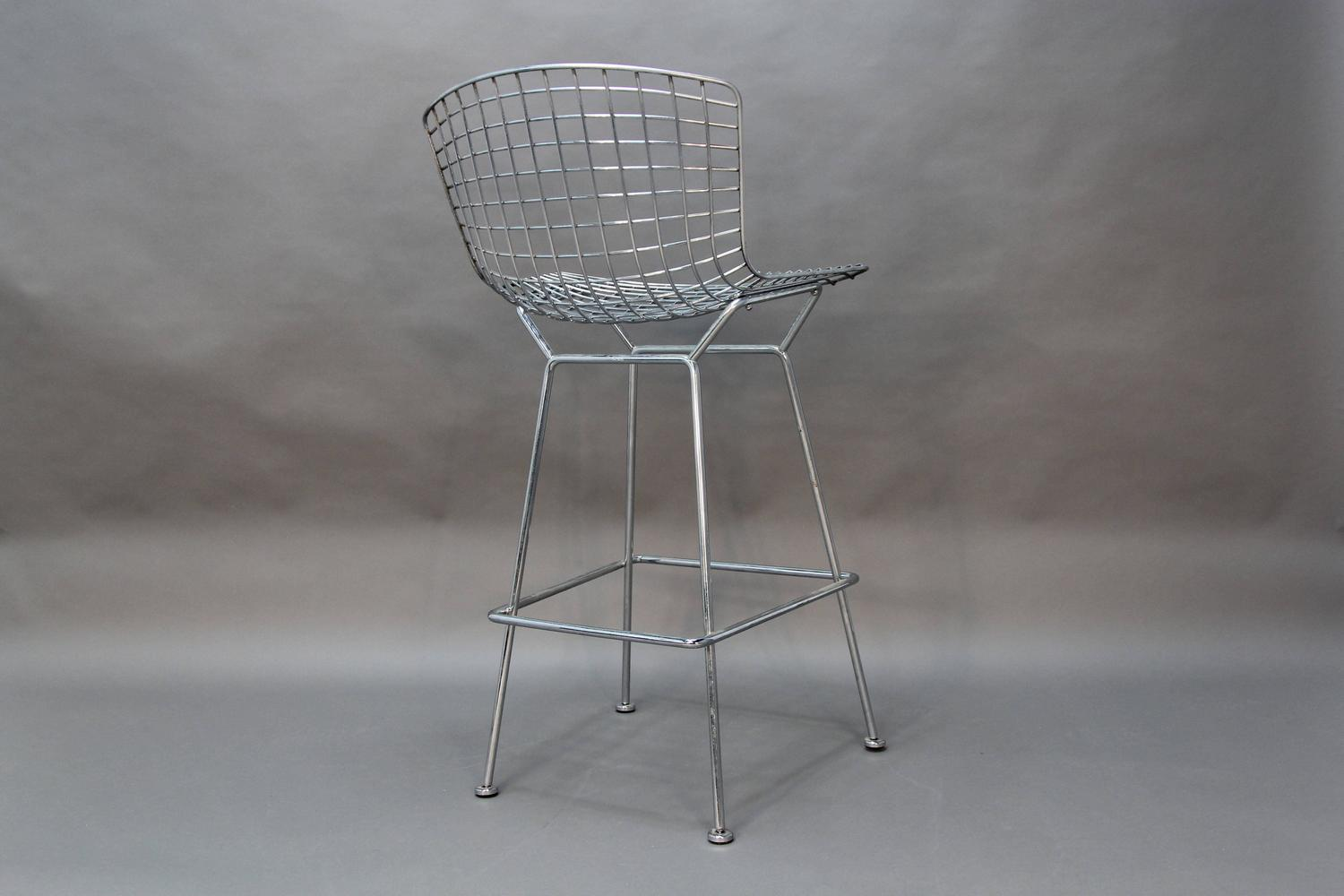 Set Of Four Bertoia Bar Stools For Knoll For Sale At 1stdibs