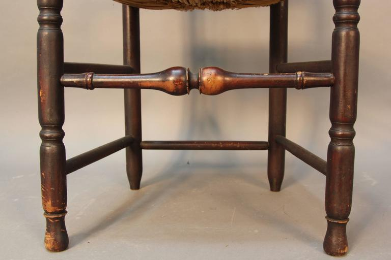 Early 18th Century Set of Eight Early CT Country Queen Anne Chairs