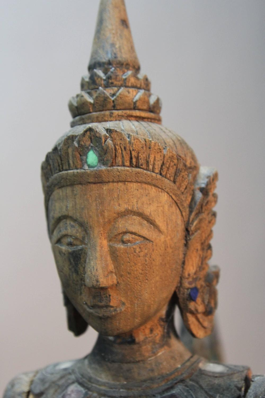 Large Antique Thai Wood Sculpture Of Kinnara For Sale At