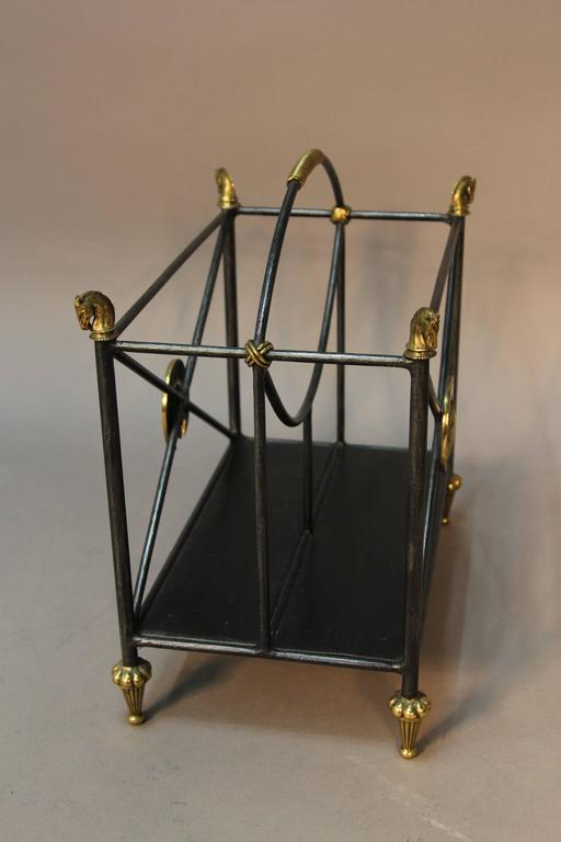 Maitland Smith Equestrian Themed Magazine Rack At 1stdibs