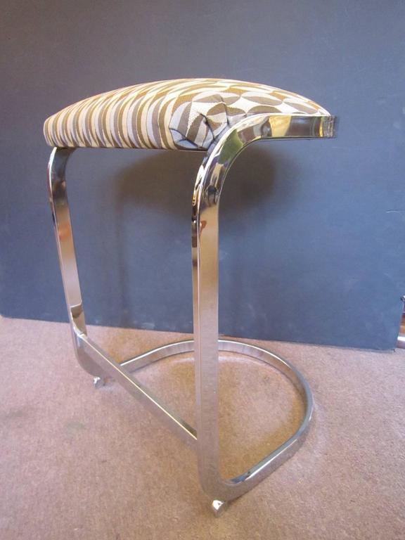 Set Of Three Cantilever Design Institute Of America Chrome