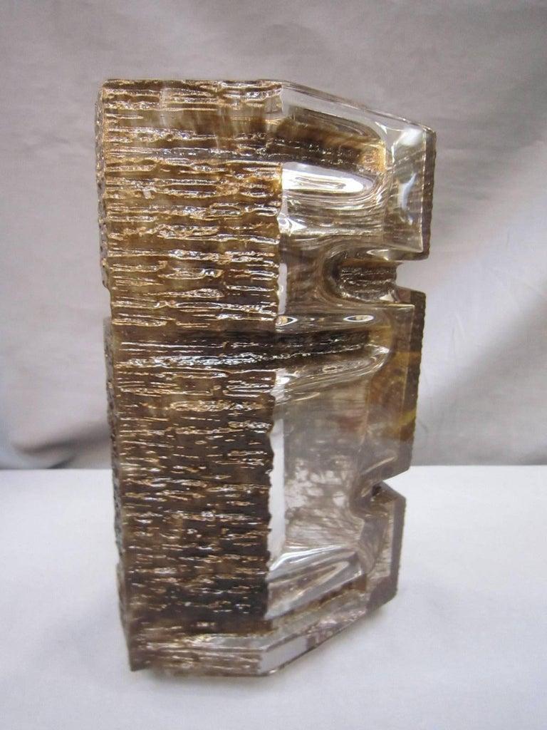 Late 20th Century Sculptural 1970s Daum Vase by César Baldaccini For Sale