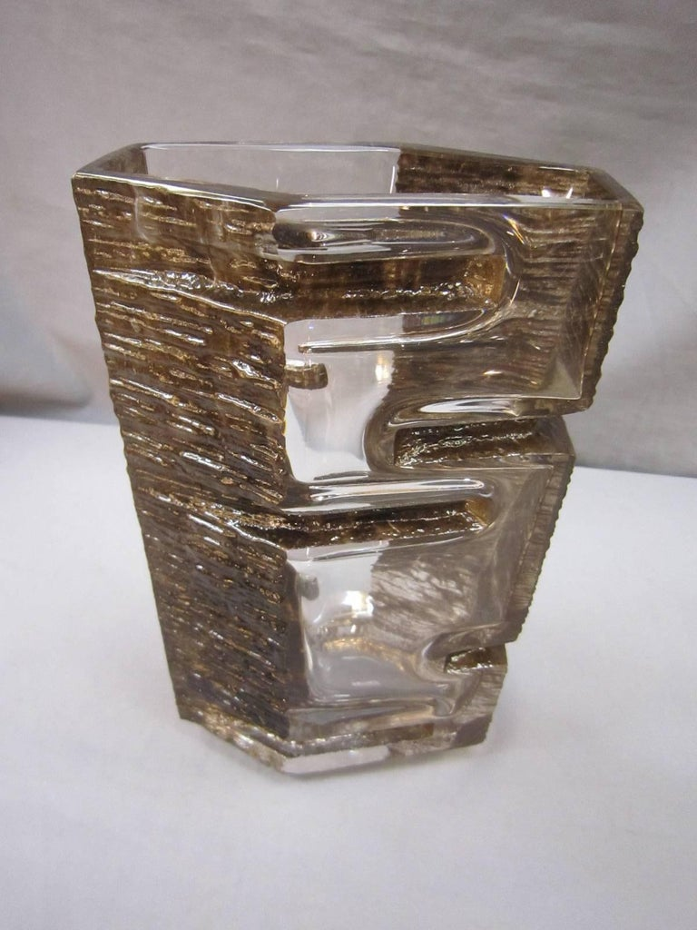 French Sculptural 1970s Daum Vase by César Baldaccini For Sale