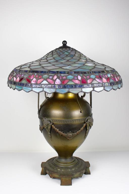 Tiffany Style Table Lamp By Edward Miller And Co At 1stdibs
