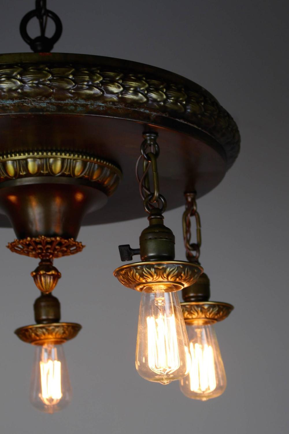 1920s five light neoclassical revival dining room fixture for Dining room 5 light chandelier