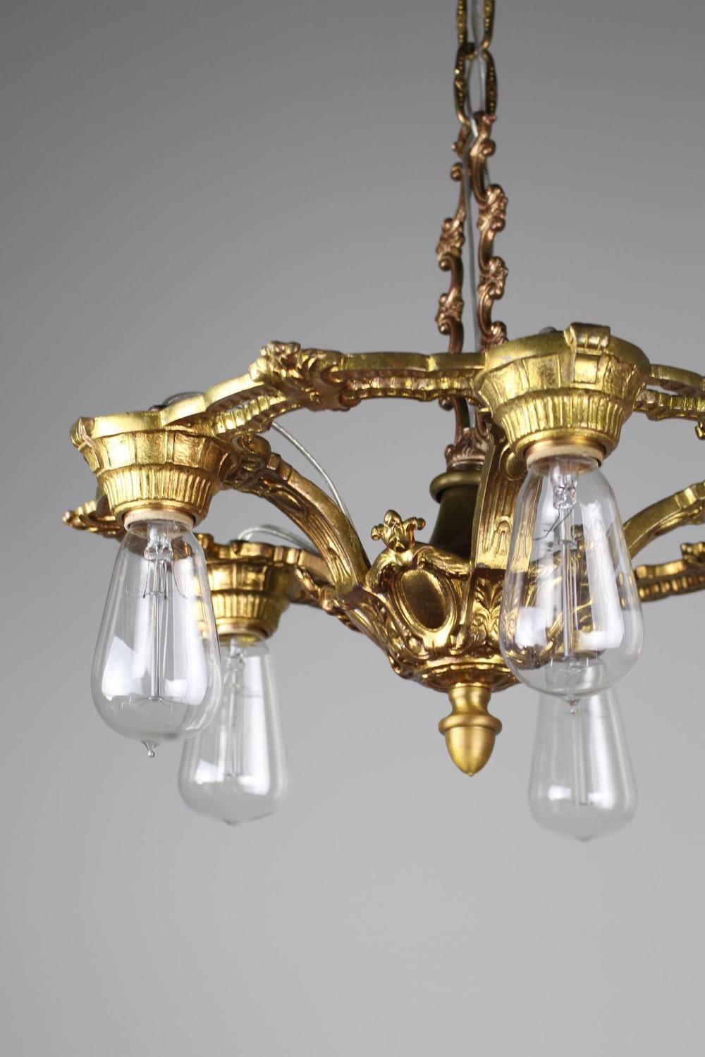 1920s cast brass fixture in the neoclassical style at 1stdibs