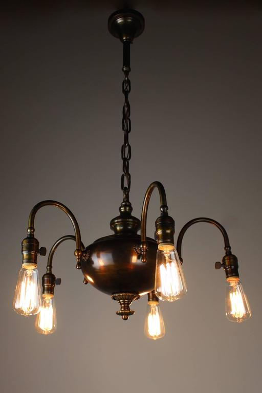 1920s arts and crafts fixture five light for sale at 1stdibs for Arts and crafts light