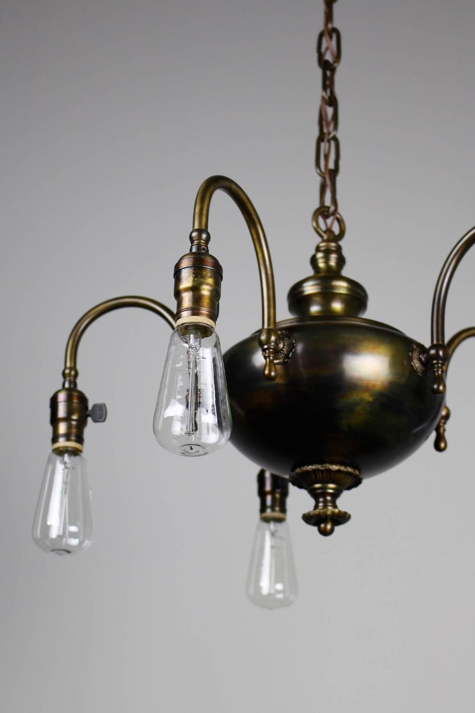 1920s arts and crafts fixture five light for sale at 1stdibs. Black Bedroom Furniture Sets. Home Design Ideas