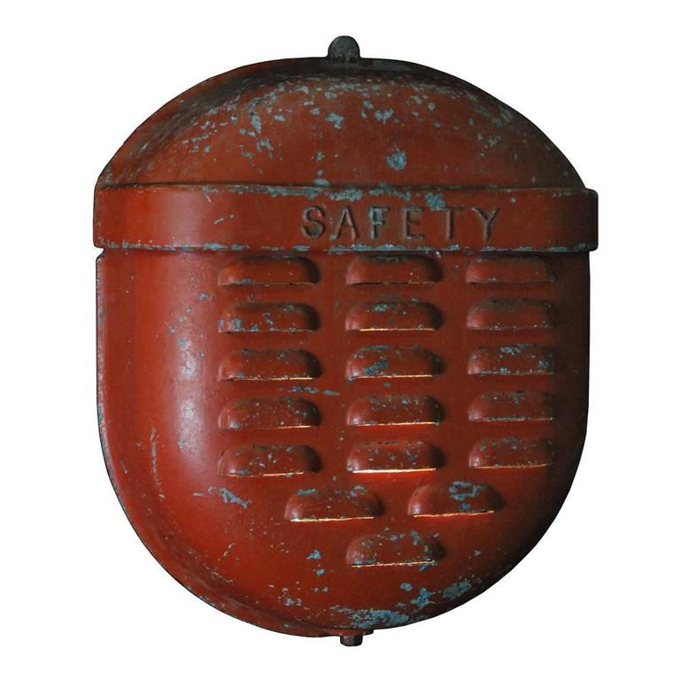 1940 Large Industrial Fire Bell Sconce