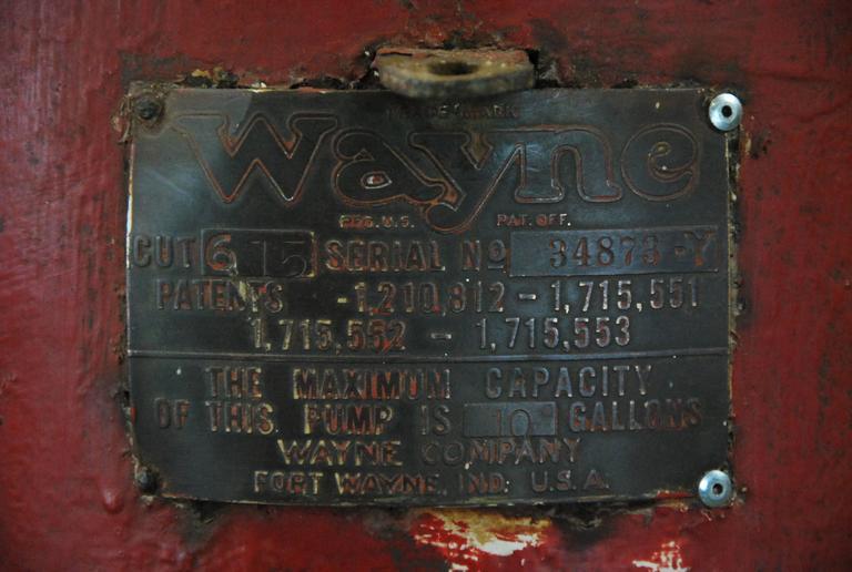 1920s American Wayne Visible Gas Pump