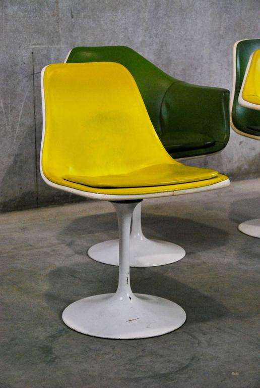 Set of four saarinen style tulip chairs for sale at 1stdibs - Tulip chairs for sale ...