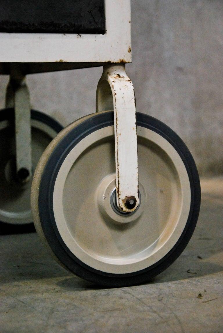 1920 Metal Industrial Rolling Cart At 1stdibs